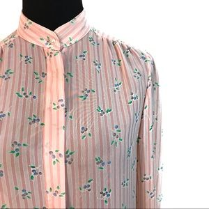 Vintage blueberry blouse top
